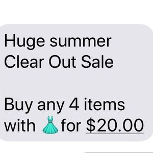 Bundle any 4👗 items for $20